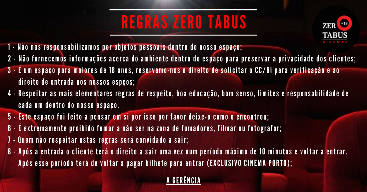 Read more about the article Regras Zero Tabus